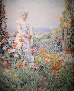 In the Garden (Celia Thaxter in Her Garden) by Childe Hassam, 1892