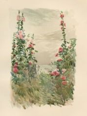 Hollyhocks in Late Summer by Childe Hassam