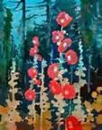Hollyhocks by Robert Genn